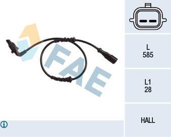 Capteur ABS FAE 78220 (X1)
