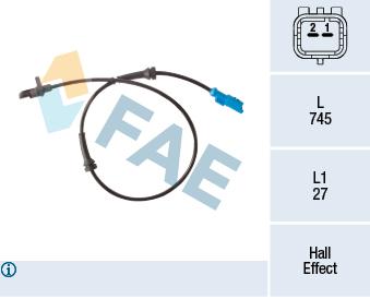 Capteur ABS FAE 78302 (X1)
