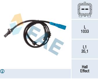 Capteur ABS FAE 78313 (X1)
