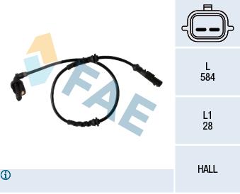 Capteur ABS FAE 78358 (X1)