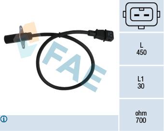 Capteur d'angle FAE 79001 (X1)