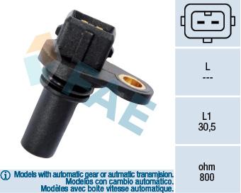 Capteur de vitesse FAE 79008 (X1)