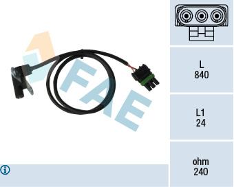 Capteur d'angle FAE 79025 (X1)