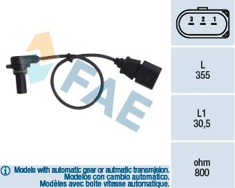 Capteurs/calculateurs/sondes FAE 79062 (X1)