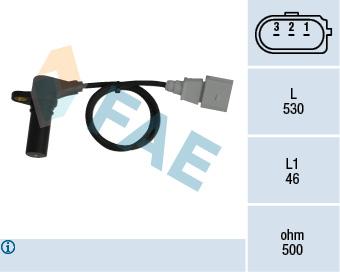 Capteur d'angle FAE 79063 (X1)