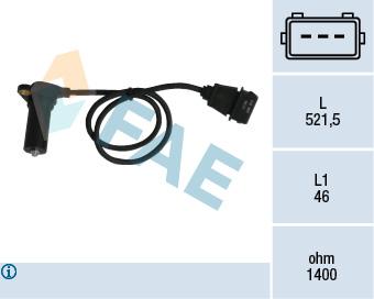 Capteur d'angle FAE 79065 (X1)