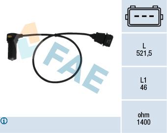 Capteur d'angle FAE 79066 (X1)