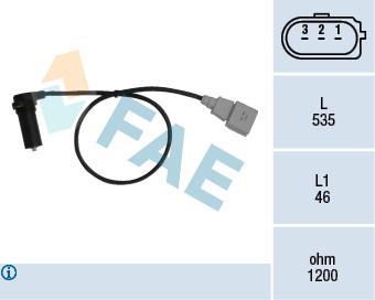 Capteur d'angle FAE 79067 (X1)