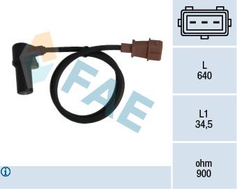 Capteur d'angle FAE 79076 (X1)