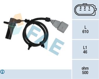 Capteur d'angle FAE 79115 (X1)