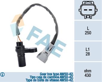 Capteur d'angle FAE 79124 (X1)