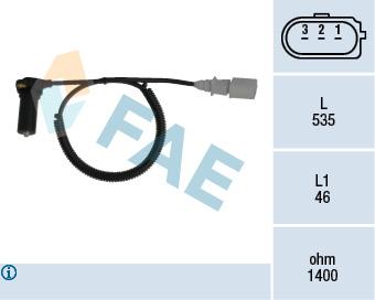 Capteur d'angle FAE 79131 (X1)