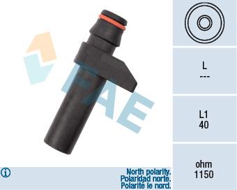Capteur d'angle FAE 79187 (X1)