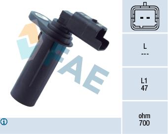 Capteur d'angle FAE 79251 (X1)