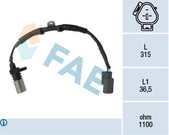 Capteur d'angle FAE 79299 (X1)