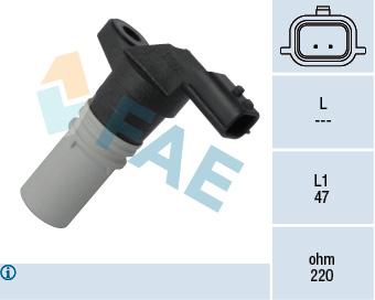 Capteur d'angle FAE 79317 (X1)