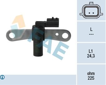 Capteur d'angle FAE 79327 (X1)