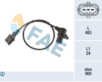 Capteur d'angle FAE 79446 (X1)