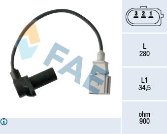 Capteur d'angle FAE 79479 (X1)