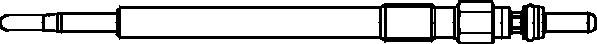 Bougie de prechauffage EYQUEM 0911101187 (Jeu de 10)