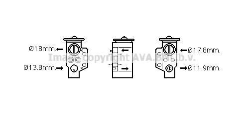 Detendeur de climatisation AVA QUALITY COOLING AI1351 (X1)