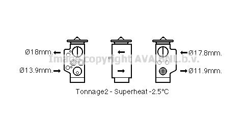 Detendeur de climatisation AVA QUALITY COOLING AI1373 (X1)