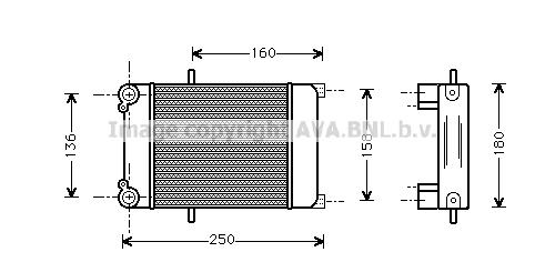 Radiateur huile AVA QUALITY COOLING AI3132 (X1)
