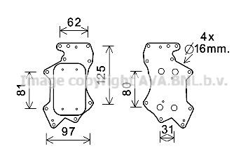 Radiateur huile AVA QUALITY COOLING AI3403 (X1)