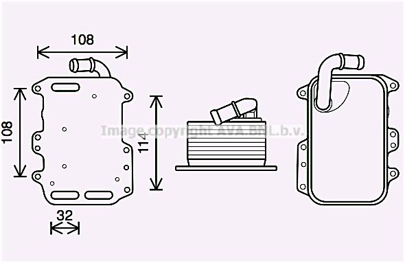 Radiateur huile AVA QUALITY COOLING AI3405 (X1)