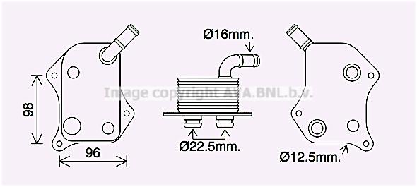 Radiateur huile AVA QUALITY COOLING AI3414 (X1)