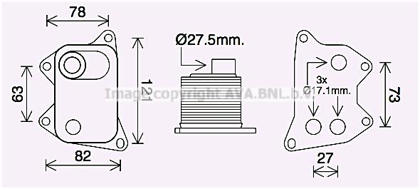 Radiateur huile AVA QUALITY COOLING AI3420 (X1)