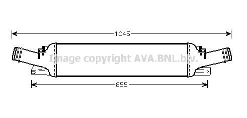 Intercooler radiateur de turbo AVA QUALITY COOLING AI4294 (X1)