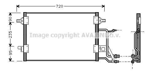Condenseur / Radiateur de climatisation AVA QUALITY COOLING AI5176 (X1)