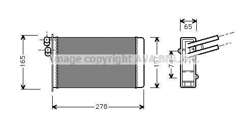Radiateur de chauffage AVA QUALITY COOLING AI6097 (X1)
