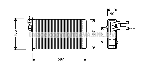 Radiateur de chauffage AVA QUALITY COOLING AI6141 (X1)