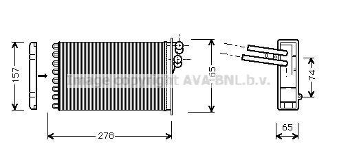 Radiateur de chauffage AVA QUALITY COOLING AI6156 (X1)