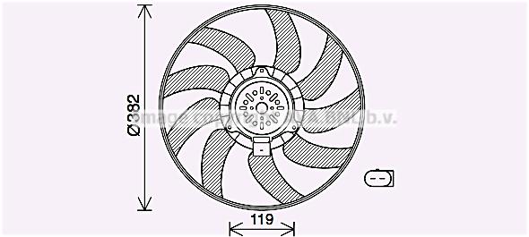 Ventilateur de radiateur AVA QUALITY COOLING AI7519 (X1)