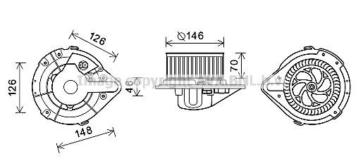 Moteur de ventilateur de chauffage AVA QUALITY COOLING AI8370 (X1)