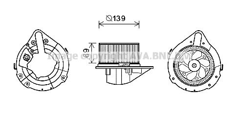 Moteur de ventilateur de chauffage AVA QUALITY COOLING AI8372 (X1)