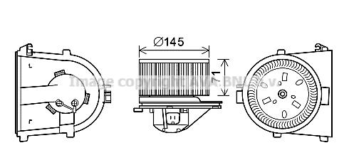 Moteur de ventilateur de chauffage AVA QUALITY COOLING AI8376 (X1)