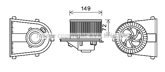 Moteur de ventilateur de chauffage AVA QUALITY COOLING AI8378 (X1)