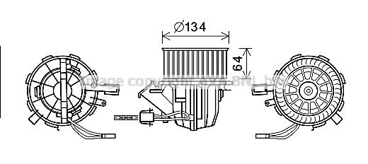 Moteur de ventilateur de chauffage AVA QUALITY COOLING AI8391 (X1)