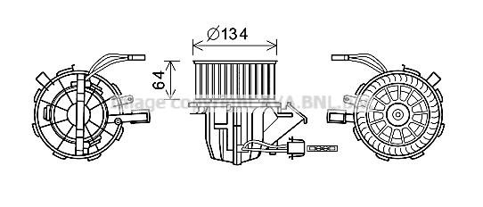 Moteur de ventilateur de chauffage AVA QUALITY COOLING AI8392 (X1)
