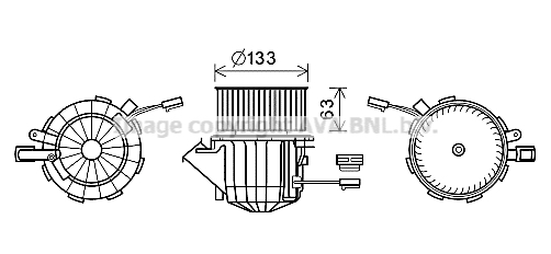 Moteur de ventilateur de chauffage AVA QUALITY COOLING AI8394 (X1)