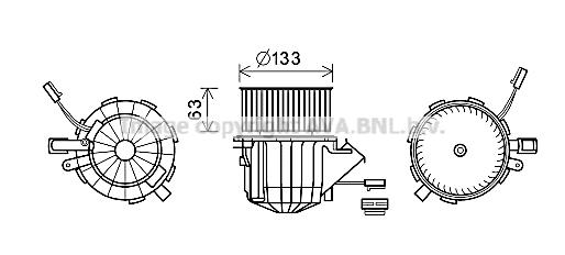 Moteur de ventilateur de chauffage AVA QUALITY COOLING AI8395 (X1)