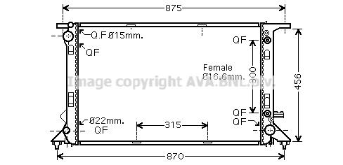 Radiateur de refroidissement AVA QUALITY COOLING AIA2291 (X1)