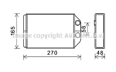 Radiateur de chauffage AVA QUALITY COOLING AIA6393 (X1)
