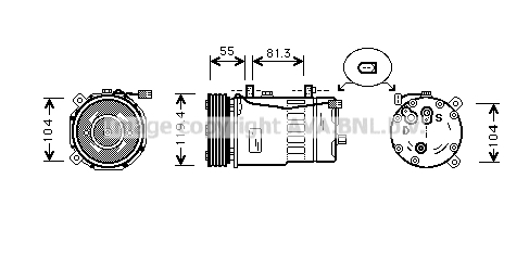 Compresseur AVA QUALITY COOLING AIAK003 (X1)