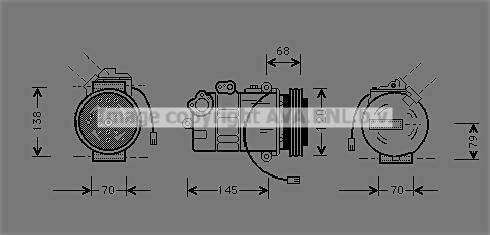 Compresseur AVA QUALITY COOLING AIAK011 (X1)