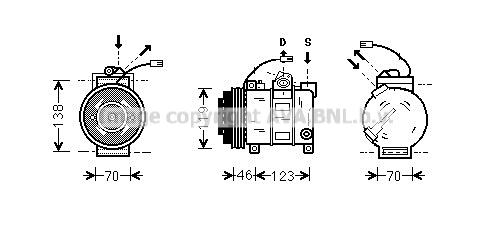 Compresseur AVA QUALITY COOLING AIAK015 (X1)